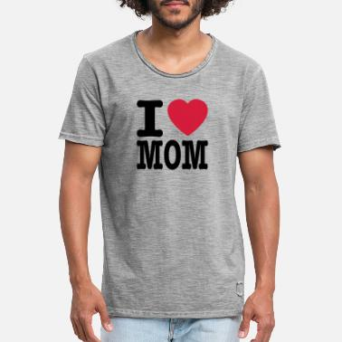 I Love Mutter i love mom IT - Maglietta vintage uomo