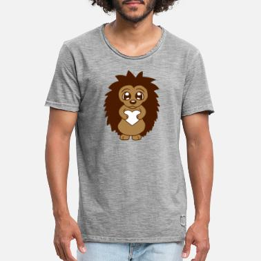 Hodetelefoner Keeping my heart I love hedgehogs look smaller from the front - Men's Vintage T-Shirt