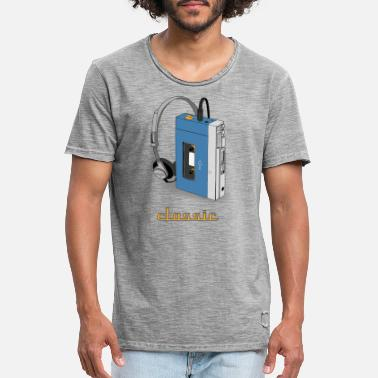 Walkman CLASSIC-WALKMAN retro design, blauw - Mannen vintage T-shirt
