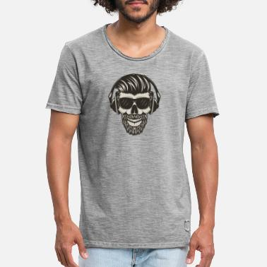 Earphones scull - Men's Vintage T-Shirt