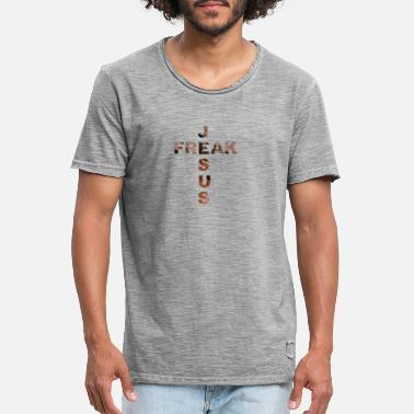 Jesus Freak JESUS freak cross - Vintage T-skjorte for menn