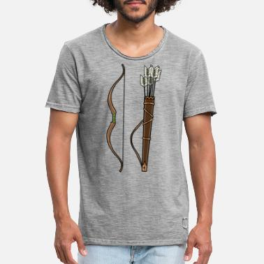 Bow Rider Arrows with rider bow - Men's Vintage T-Shirt