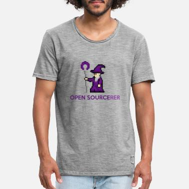 Open Source Open source tovenaar programmeur t-shirt - Mannen vintage T-shirt
