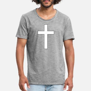 Crossed Cross - The cross - Men's Vintage T-Shirt