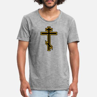 Orthodoxe Orthodox Cross - Mannen vintage T-shirt