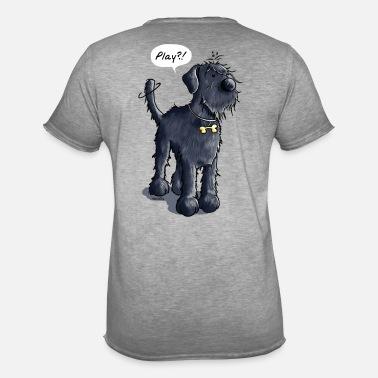 Hunde Motiv Damen Frauen Shirt Schnauzer Motiv T-Shirt Hunderasse Schnauzer