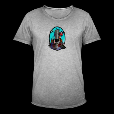 Dronning Kong Slot Turquoise - Herre vintage T-shirt