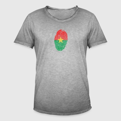 Burkina Faso Footprint - Men's Vintage T-Shirt