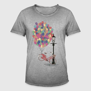 Love to Ride my Bike with Balloons - T-shirt vintage Homme