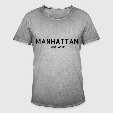 Manhattan - Vintage-T-skjorte for menn