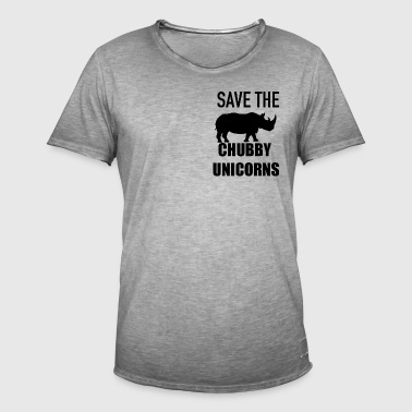 Save the chubby unicorn - Men's Vintage T-Shirt