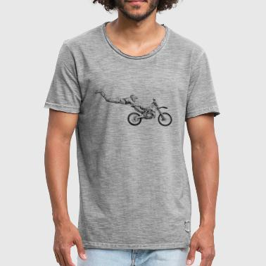 motocross freestyle - T-shirt vintage Homme