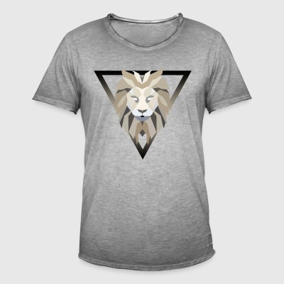 Polygonal lion - Men's Vintage T-Shirt