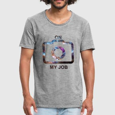 ON MY JOB (space) - Men's Vintage T-Shirt
