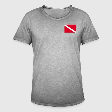 Dive Flag - Vintage-T-skjorte for menn