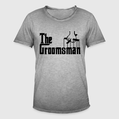The Groomsman. The Best Man. Gifts for Stag Party - Men's Vintage T-Shirt
