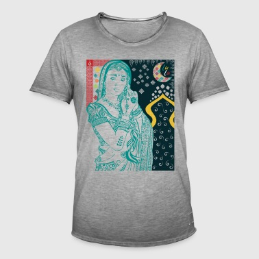 Hindu Woman - Vintage-T-skjorte for menn