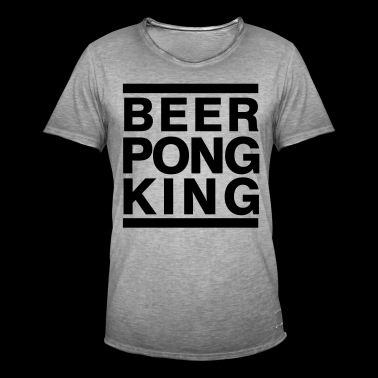 beerpong KING - Mannen Vintage T-shirt