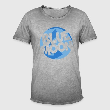 Blue Moon - Vintage-T-skjorte for menn