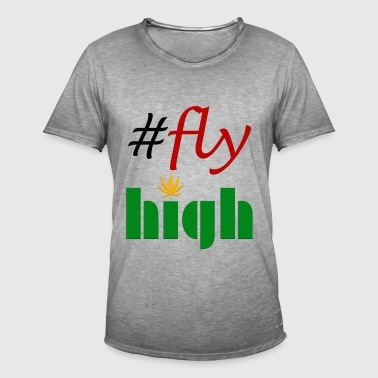 #flyhigh - T-shirt vintage Homme