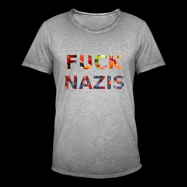 Fuck Nazis with Fruits - Männer Vintage T-Shirt