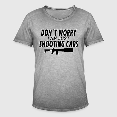Shooting Cars - Vintage-T-shirt herr