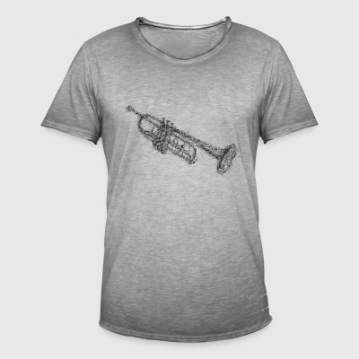 Trumpet Scribble - Men's Vintage T-Shirt