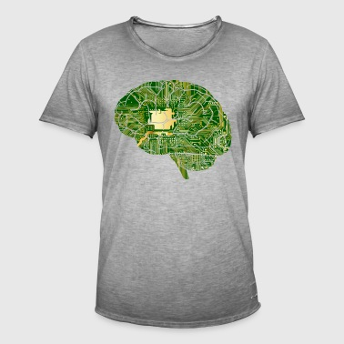 Digital Brain - Männer Vintage T-Shirt