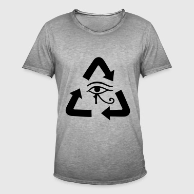 Reincarnation gift idea arrows sign icon - Men's Vintage T-Shirt