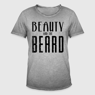 Beauty and the Beard - Vintage-T-skjorte for menn