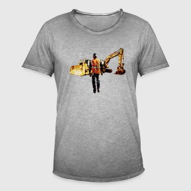 Diggers and Dozers - T-shirt vintage Homme