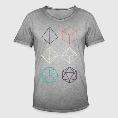 Minimal dnd (dungeons and dragons) dice - Men's Vintage T-Shirt