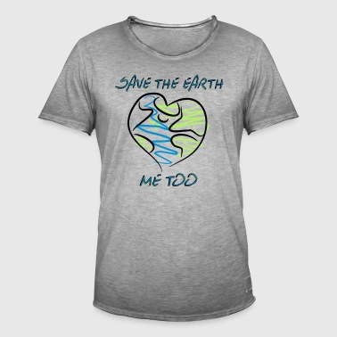 save the earth - Männer Vintage T-Shirt