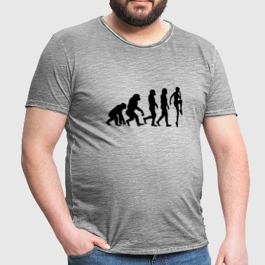 ++ ++ SPORTSWOMAN EVOLUTION - Men's Vintage T-Shirt
