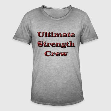 Ultimate Strength Crew - Herre vintage T-shirt