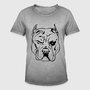 Pitbull Chien agressif - T-shirt vintage Homme
