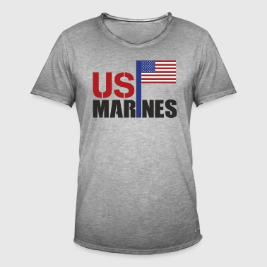 MARINES - T-shirt vintage Homme