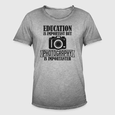 Photography is importanter - Men's Vintage T-Shirt