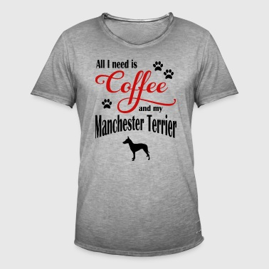 Manchester Terrier Coffee - Men's Vintage T-Shirt