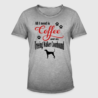 Treeing Walker Coonhound Coffee - Vintage-T-shirt herr