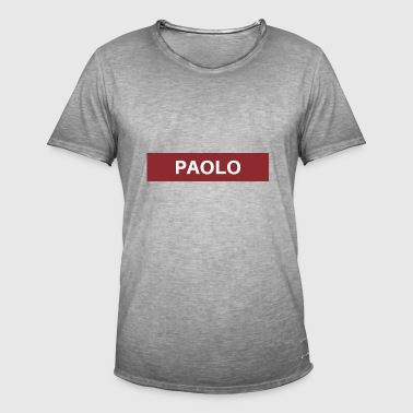 Paolo - T-shirt vintage Homme