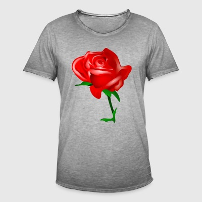 The Red Rose - Mannen Vintage T-shirt