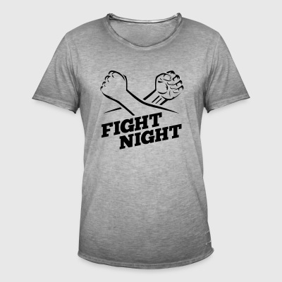 Fight Night boksning Kickboxing - Herre vintage T-shirt