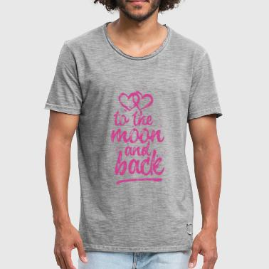 Love, To the moon and back - pink - Männer Vintage T-Shirt