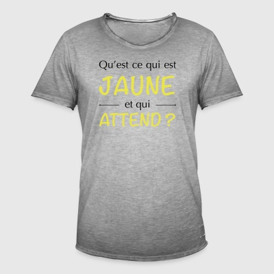 JAUNE ATTEND - T-shirt vintage Homme