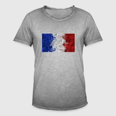 French flags. - Men's Vintage T-Shirt