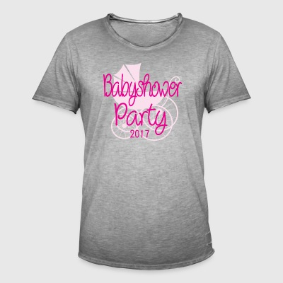 Baby Shower Party 2017 Rose - Männer Vintage T-Shirt