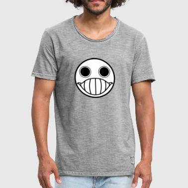 Crazy krybe Smiley (Schwartz) - Herre vintage T-shirt