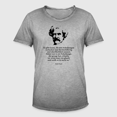 Twain: There are people who leave the school boys - Men's Vintage T-Shirt