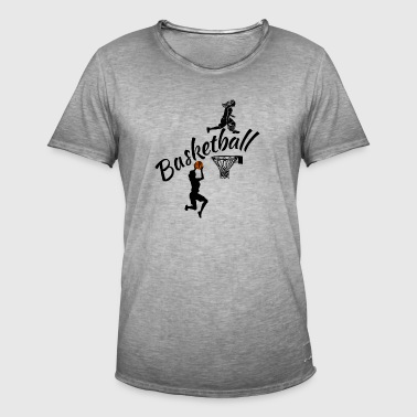 BASKETFILLE - Männer Vintage T-Shirt